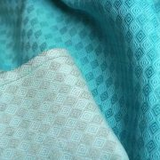 Oscha Dyed Grad Blue Lagoon on Diamond with linen